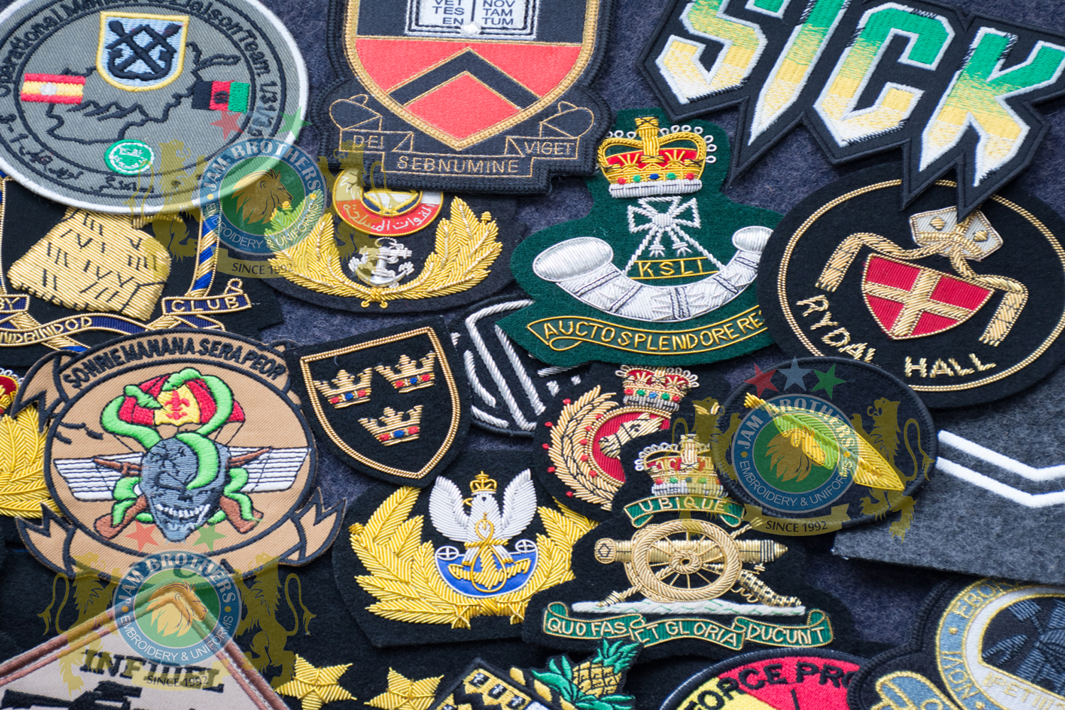 #Hand Embroidery #BullionEmbroidery #TradeBadges #MessDress #Badges #Ranks #Regiment #Parade #Ceremonial #Cord #Textile #ArmedForces #BritishArmy #Army #Aiguillette #Military #MilitaryUniforms #Militaria #Insignia #Headwear #Caps #OfficerCaps #UniformCaps #PeakCaps #DressCaps #MilitaryCaps #RailCap #Berets #Glengarry #RoyalNavy #RoyalMarine #RoyalAirForce #RAF #Infantry #Armor #EME #Battalion #Medals #Ribbons #Braid #Lace #Uniforms #UniformSupplie #Police #Security #Buckles #Guards #Accoutrement #Badge #Patch #Machine #MachineEmbroidery #HandEmbroidery #Bullion #BullionBadges #BullionEmbroidery #WovenBadges #Woven # Emblems #Regiment #Regimental #OfficerCaps #PeakCaps #Soldier #Helmets #Covers #HelmetCovers #Armlets #Sliders #Epaulettes #Webbing #Chevron #Officer #ShoulderBoards #Gorgets #Tassel #Sash #Hand #HandSewn #Aviation #AviationClothing #Crest #FamilyCrest #CoatofArms #EmbroideredPillows #Cords #Aiguillettes #CapCords #ChinCord #DressCord #SwordKnot #Tassels #WhistleCord #Lanyard #Knots #Banners #ClanBadges #Peaks #Visor #Wings #CapBadges #Pennants #HonorCaps #OfficerCaps #SportsCap #Masonic #Aprons #MasonicAprons #Collars #MasonicCollars #Gloves #MasonicGloves #MasonicPatches #Patches #Regalia #MasonicRegalia #Freemason #Braid #Chevron #Cuffs #Fringes #Sashes #HeadGear #FieldGear #England #USA #Poland #ArmedForces #Schools #Colleges #University #Sialkot #Pakistan Sialkot Pakistan PeakCaps OfficerCaps ShoulderRanks BullionBadges UniformAccessories MilitaryUniforms DressCap TradeBadge RankMarking WireBadges Army Airforce Navy Police Hand Machine Embroidery Badge Emblems Patches Bullion Wire Silver Gold
