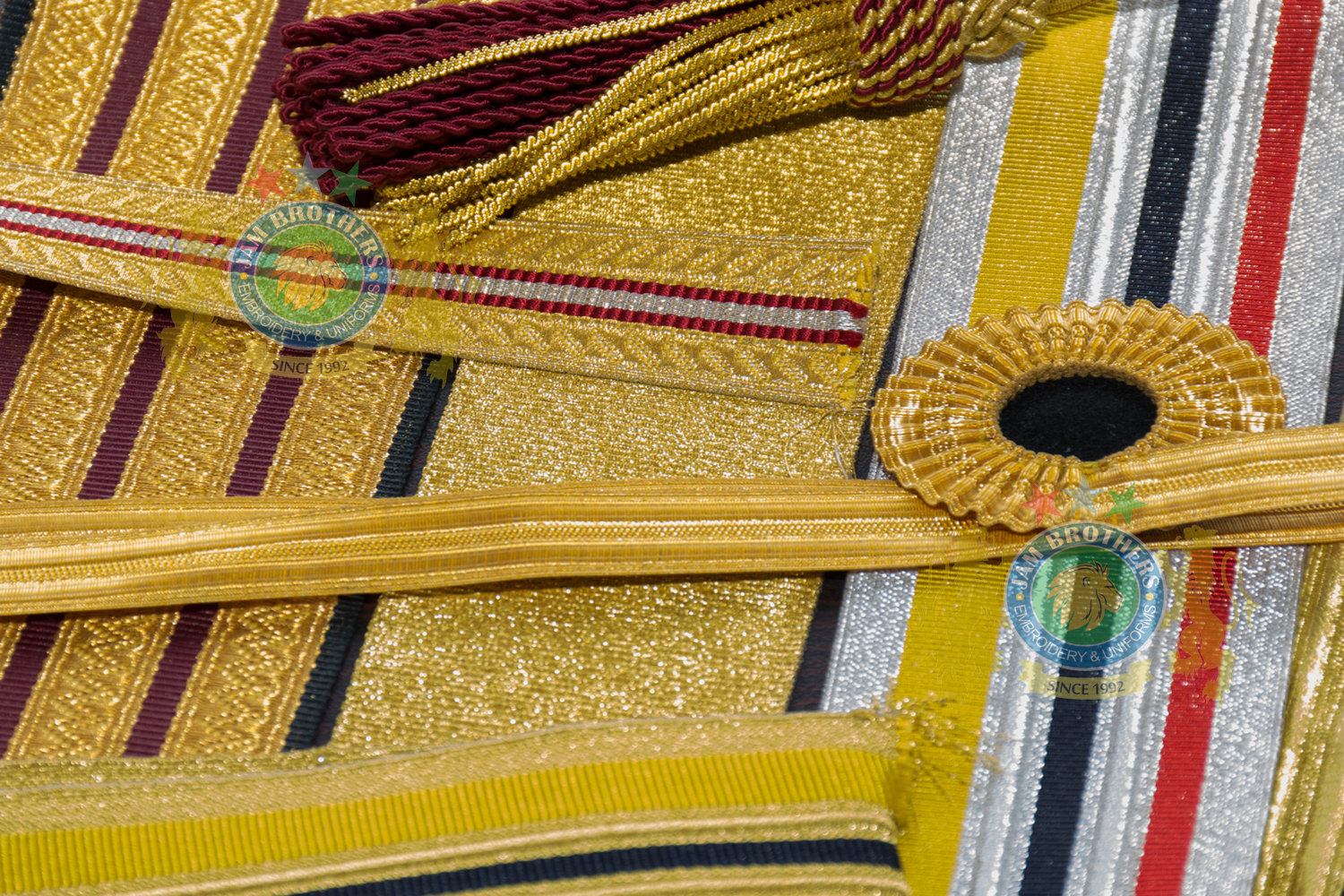 Lace Trimming Braid Gold White Silver Blue Weave Weaving Uniforms Accouterments Tailor Belts Leather Ceremonial Combat Cadet Parade Belts #Hand Embroidery #BullionEmbroidery #TradeBadges #MessDress #Badges #Ranks #Regiment #Parade #Ceremonial #Cord #Textile #ArmedForces #BritishArmy #Army #Aiguillette #Military #MilitaryUniforms #Militaria #Insignia #Headwear #Caps #OfficerCaps #UniformCaps #PeakCaps #DressCaps #MilitaryCaps #RailCap #Berets #Glengarry #RoyalNavy #RoyalMarine #RoyalAirForce #RAF #Infantry #Armor #EME #Battalion #Medals #Ribbons #Braid #Lace #Uniforms #UniformSupplie #Police #Security #Buckles #Guards #Accoutrement #Badge #Patch #Machine #MachineEmbroidery #HandEmbroidery #Bullion #BullionBadges #BullionEmbroidery #WovenBadges #Woven # Emblems #Regiment #Regimental #OfficerCaps #PeakCaps #Soldier #Helmets #Covers #HelmetCovers #Armlets #Sliders #Epaulettes #Webbing #Chevron #Officer #ShoulderBoards #Gorgets #Tassel #Sash #Hand #HandSewn #Aviation #AviationClothing #Crest #FamilyCrest #CoatofArms #EmbroideredPillows #Cords #Aiguillettes #CapCords #ChinCord #DressCord #SwordKnot #Tassels #WhistleCord #Lanyard #Knots #Banners #ClanBadges #Peaks #Visor #Wings #CapBadges #Pennants #HonorCaps #OfficerCaps #SportsCap #Masonic #Aprons #MasonicAprons #Collars #MasonicCollars #Gloves #MasonicGloves #MasonicPatches #Patches #Regalia #MasonicRegalia #Freemason #Braid #Chevron #Cuffs #Fringes #Sashes #HeadGear #FieldGear #England #USA #Poland #ArmedForces #Schools #Colleges #University #Sialkot #Pakistan Sialkot Pakistan PeakCaps OfficerCaps ShoulderRanks BullionBadges UniformAccessories MilitaryUniforms DressCap TradeBadge RankMarking WireBadges Army Airforce Navy Police